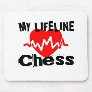 Tapis De Souris Ma ligne de vie échecs folâtre des conceptions