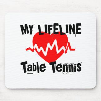 Tapis De Souris Ma ligne de vie ping-pong folâtre des conceptions