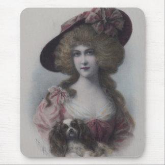 Tapis De Souris Madame avec son cavalier