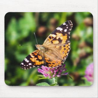 Tapis De Souris Madame peinte Butterfly sur le trèfle Mousepad