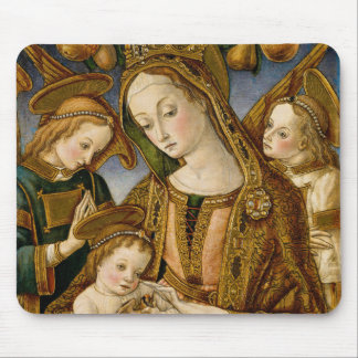 Tapis De Souris Madonna et enfant avec deux anges