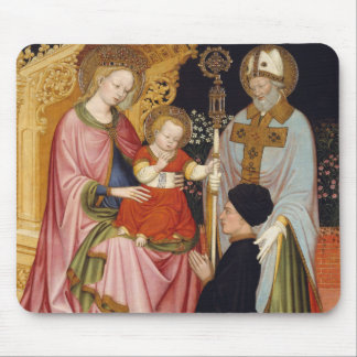 Tapis De Souris Madonna et enfant avec le donateur