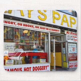 Tapis De Souris Magasin supérieur New York City NYC de hot-dog de