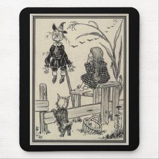 Tapis De Souris Magicien d'Oz Dorothy et l'épouvantail