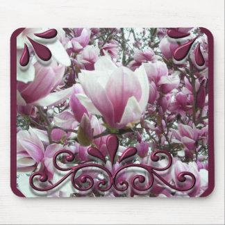 Tapis de souris - magnolia de soucoupe