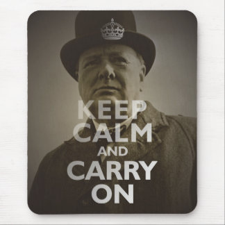 Tapis De Souris Maintenez calme et continuez Winston Churchill