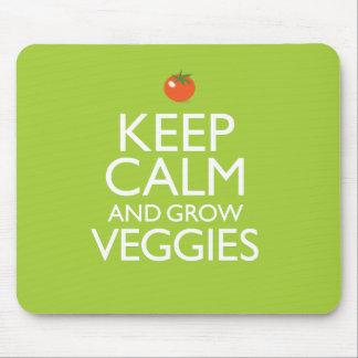 Tapis De Souris Maintenez calme et cultivez le légume