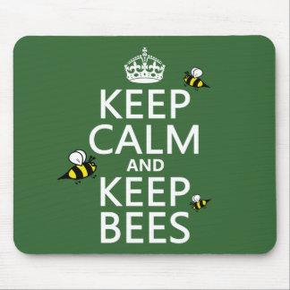 Tapis De Souris Maintenez calme et gardez les abeilles - toutes