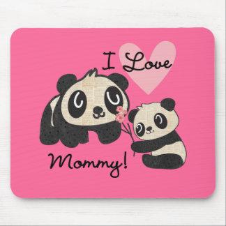Tapis De Souris Maman d'amour des pandas I