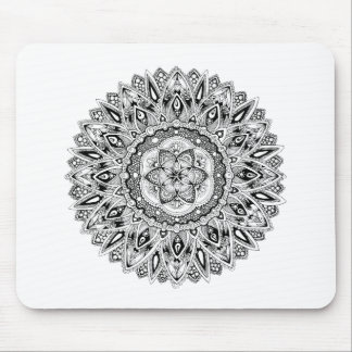 Tapis De Souris Mandala de fleur avec la graine de la vie