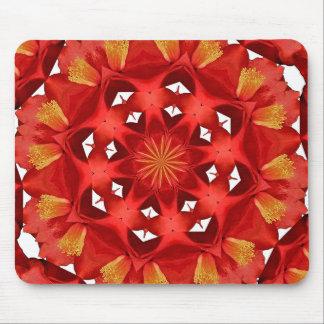 Tapis De Souris Mandala rouge de camélia