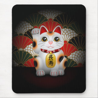 Tapis De Souris Maneki en céramique blanc Neko