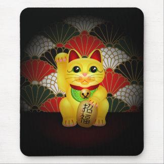 Tapis De Souris Maneki en céramique jaune Neko