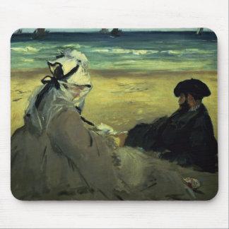Tapis De Souris Manet | sur la plage, 1873