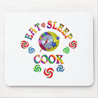Tapis De Souris Mangez le cuisinier de sommeil
