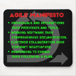Tapis De Souris Manifeste agile Mousepad