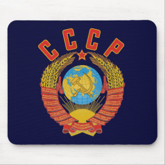 Tapis De Souris Manteau soviétique de mousepad des bras CCCP