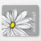Tapis De Souris Marguerite à la mode avec le gris et le jaune