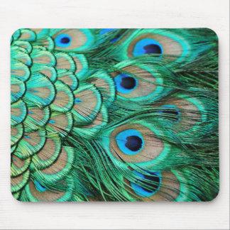 Tapis De Souris mariage turquoise de paon de turquoise vintage