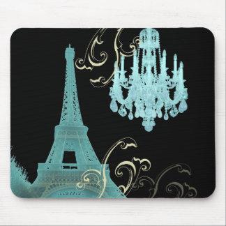 Tapis De Souris Mariage vintage de lustre de Tour Eiffel de Paris