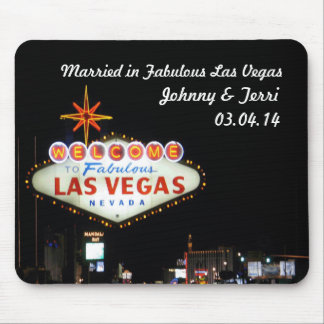 Tapis De Souris Marié à Las Vegas a personnalisé Mousepad !