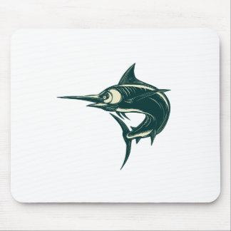 Tapis De Souris Marlin bleu atlantique Scraperboard