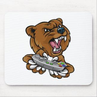Tapis De Souris Mascotte de joueur de Gamer d'ours