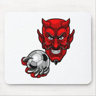 Tapis De Souris Mascotte du football du football de diable