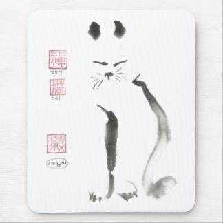 Tapis De Souris Méditation de chat de zen - Sumi-e [peinture