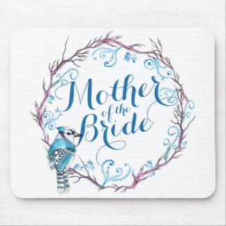 Tapis De Souris Mère de l'oiseau bleu de jeune mariée épousant