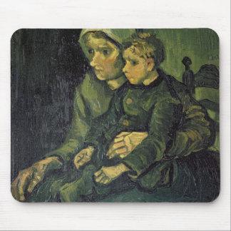 Tapis De Souris Mère de Vincent van Gogh | et enfant, 1885