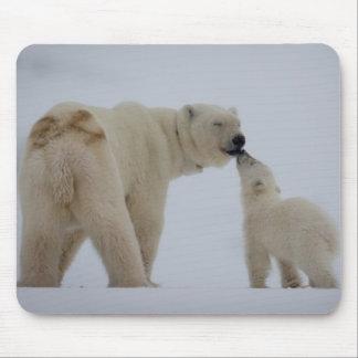 Tapis De Souris Mère d'ours blanc avec CUB
