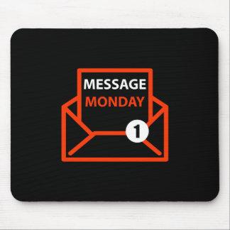 Tapis De Souris Message lundi Mousepad noir
