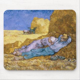 Tapis De Souris Midi de Vincent van Gogh |, la sièste, après