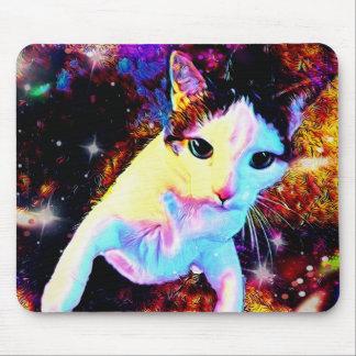 Tapis de souris mignon coloré de disco de Kitty de