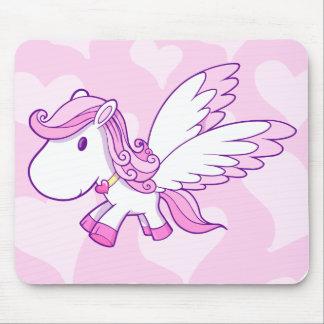 Tapis de souris mignon de Pegasus de bébé
