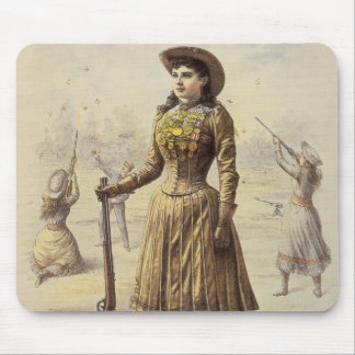 Tapis De Souris Mlle vintage Annie Oakley, cow-girl occidentale