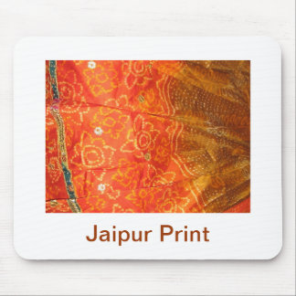 Tapis De Souris Mode vintage : Or d'impression de Jaipur avec le