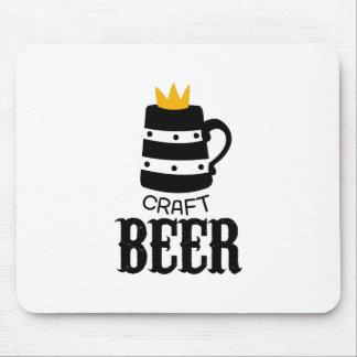Tapis De Souris Modèle de conception de logo de bière de métier