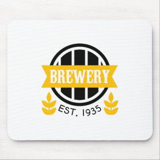 Tapis De Souris Modèle de conception de logo de brasserie
