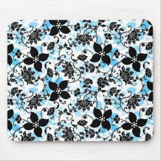 Tapis de souris moderne de conception florale -