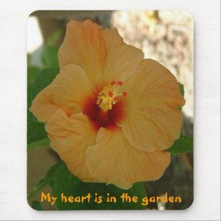 Tapis De Souris Mon coeur est dans le jardin