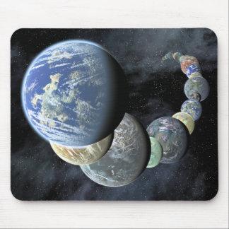 Tapis De Souris Mondes rocheux et terrestres