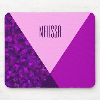 Tapis De Souris Monogramme Mousepad à la mode géométrique rose