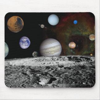 Tapis De Souris Montage des planètes et des lunes de Jupiter