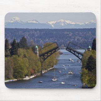 Tapis De Souris Montagnes de pont et de cascade de Montlake