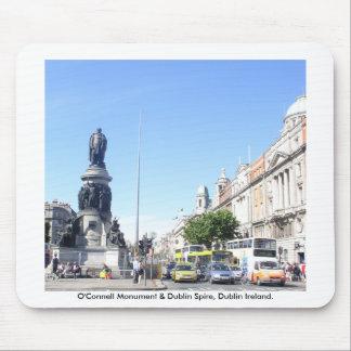 Tapis De Souris Monument d'O'Connell et flèche de Dublin, Dublin