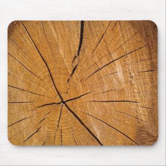 Tapis De Souris Morceau de couverture en bois rustique en bois