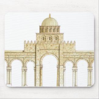 Tapis De Souris Mosquée d'Uqba. Kairouan Tunisie. Façade principal