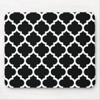 Tapis De Souris Motif blanc noir #5 de Quatrefoil de Marocain